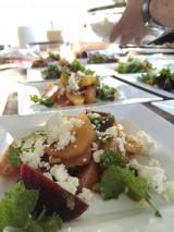 Een salade van drie soorten bieten